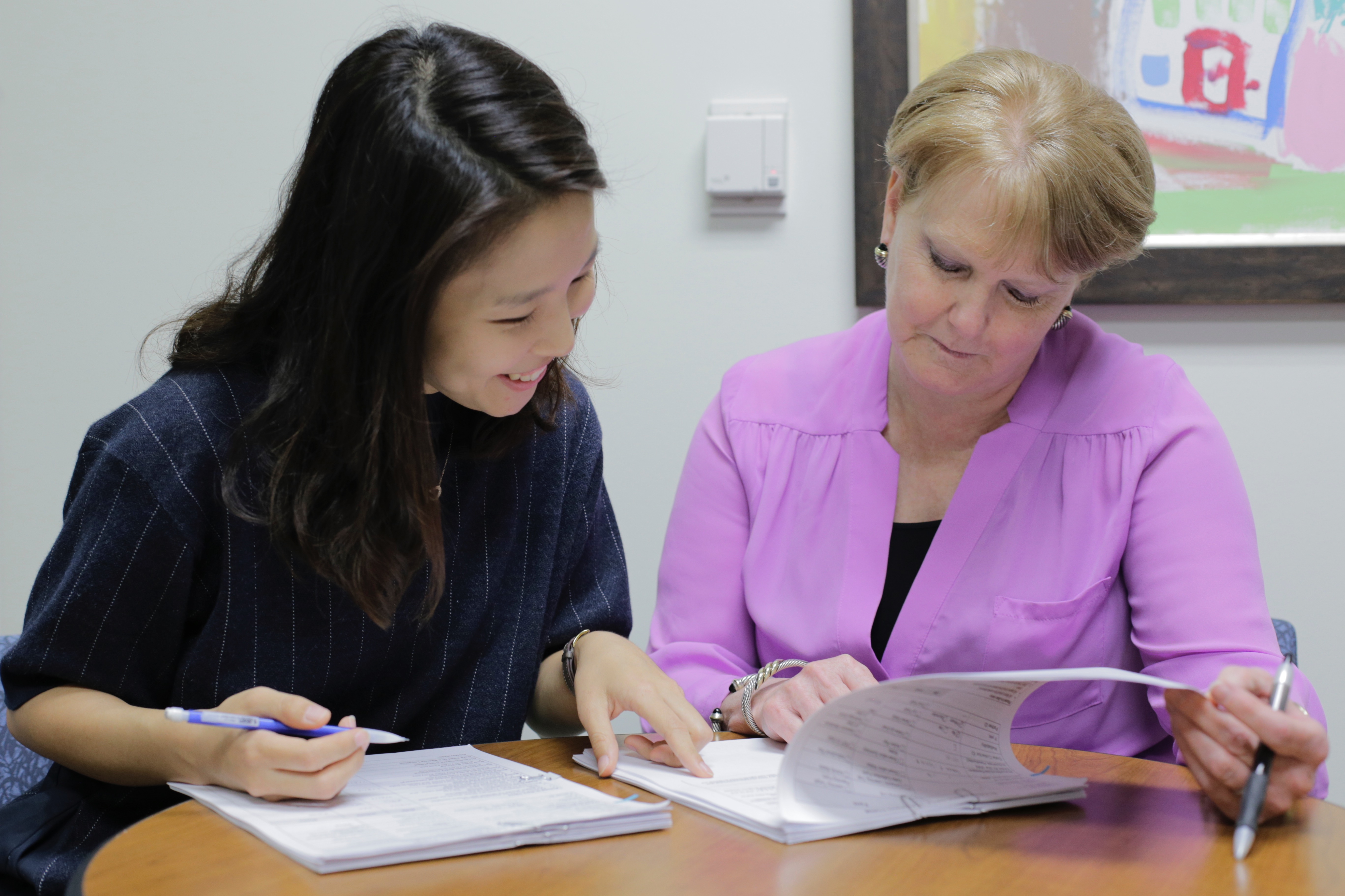 JinHee Hur and Dr. Patricia Snyder