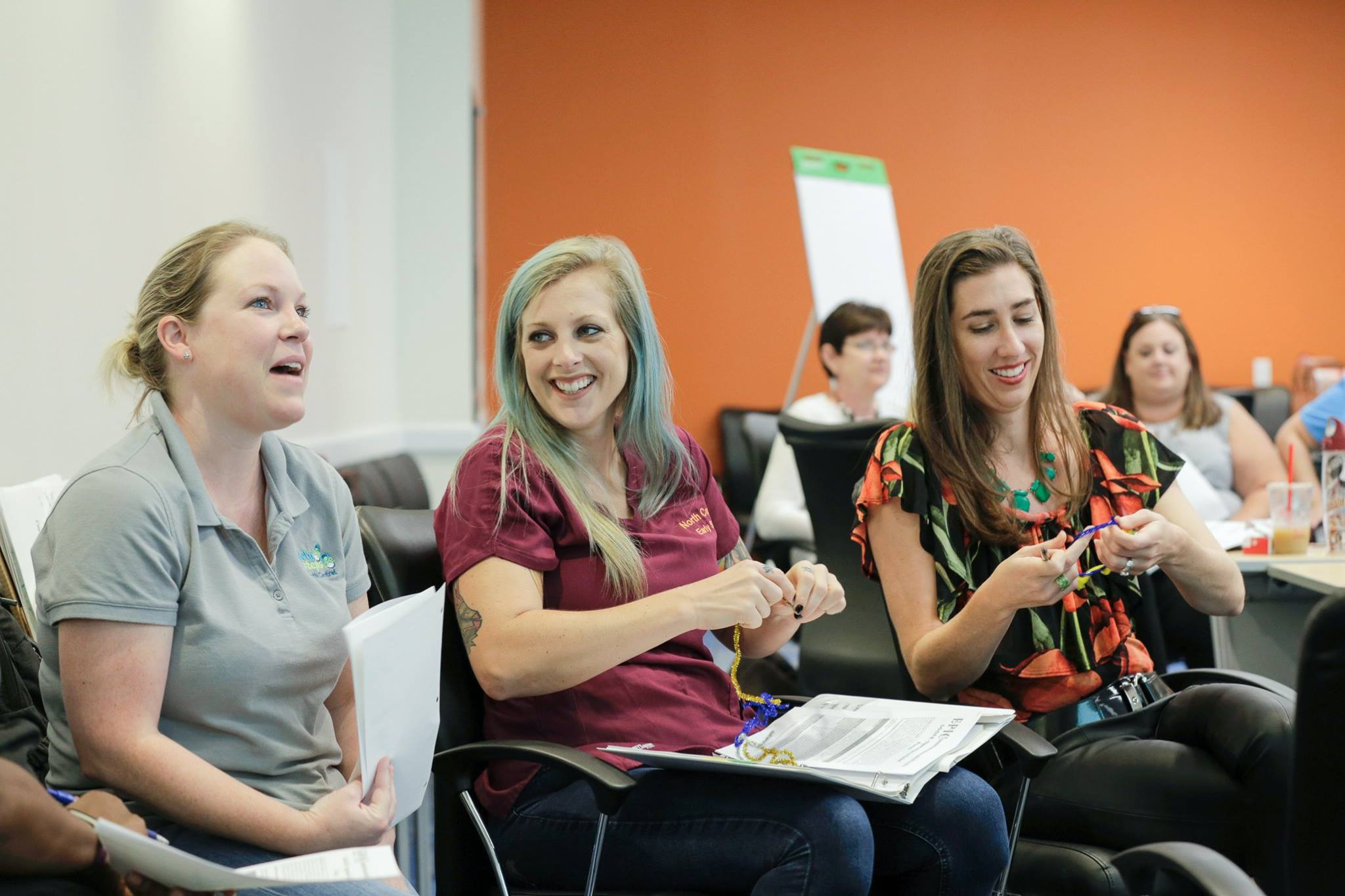 Practitioners pose questions during one of the first Florida Early Steps Trainings.