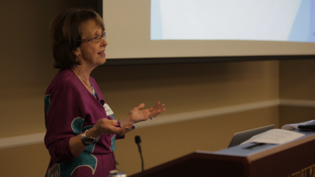 Ann Turnbull presenting
