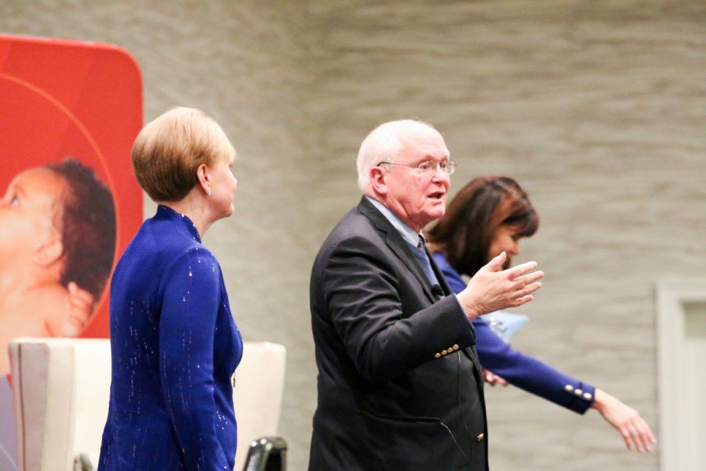 Patricia Snyder, David Lawrence, Jr., and Diane McFarlin