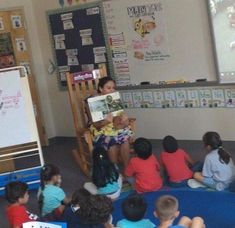 Nicole Mera in the classroom.