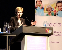 Anita Zucker Center Faculty Delivers Keynote Speech on Early Childhood Intervention in Australia