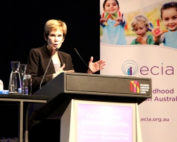Anita Zucker Center Faculty Delivers Keynote Speech on Early Childhood Intervention in Australia
